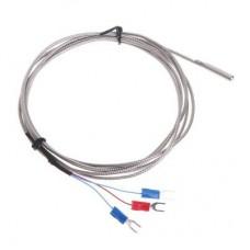 Temperature probe thermocouple type K, 400C, Ф5, 40mm, 2m