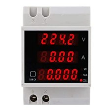 Voltmeter Ammeter Wattmeter PF meter DIN Rail AC 80-300V 0-100A