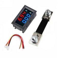 Digital Voltmeter Ammeter 100V 100A DC