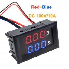Digital Voltmeter Ammeter 100V 10A DC
